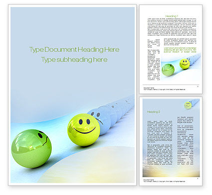 Just a Good Mood Word Template, 10821, Business Concepts — PoweredTemplate.com