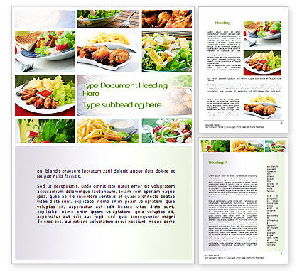 Food & Beverage: Recipes Word Template #10824