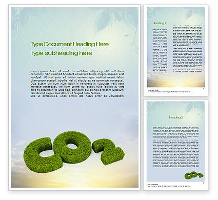 CO2 Word Template, 10827, Nature & Environment — PoweredTemplate.com