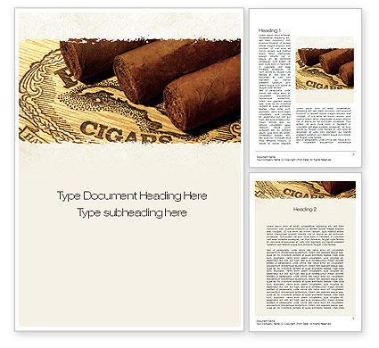 Careers/Industry: Cuban Cigars Word Template #10828