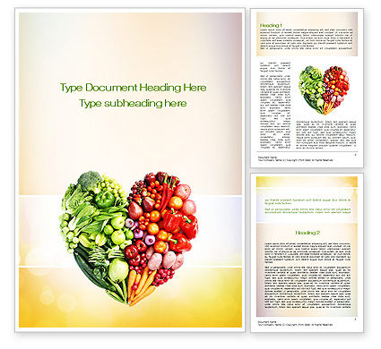 Eat Healthy Word Template, 10831, Food & Beverage — PoweredTemplate.com