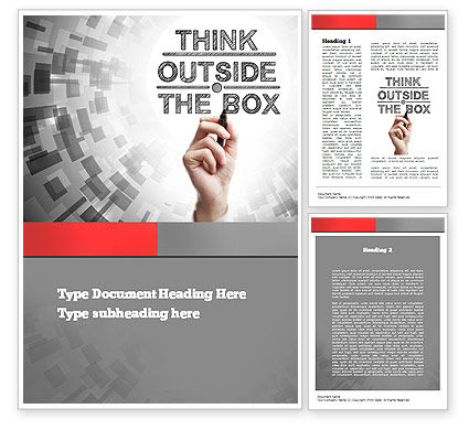 Think Outside the Box Word Template