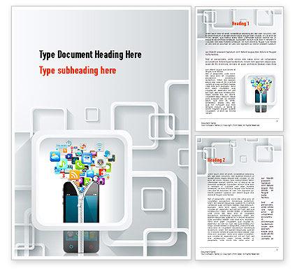 Technology, Science & Computers: Templat Word Aplikasi Smartphone #10847