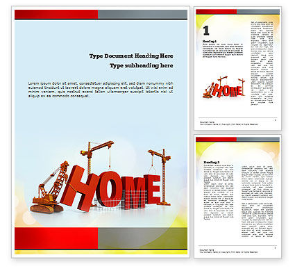 Building Home Concept Word Template, 10852, Careers/Industry — PoweredTemplate.com