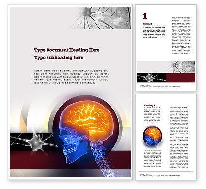 Neurosurgery Word Template, 10860, Medical — PoweredTemplate.com