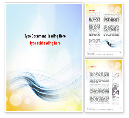 Abstract/Textures: Light Abstract Theme Word Template #10864