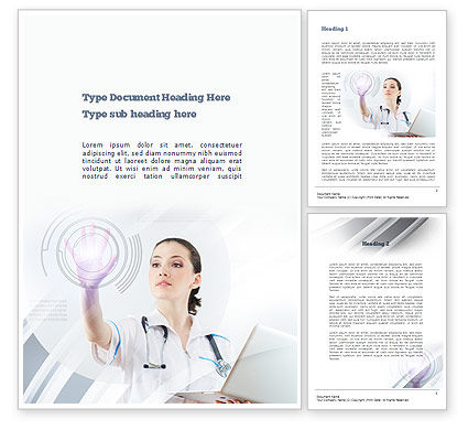 Medical Technology Innovation Word Template, 10866, Medical — PoweredTemplate.com