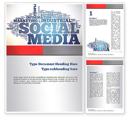 Social Media Word Cloud Word Template, 10871, Careers/Industry — PoweredTemplate.com