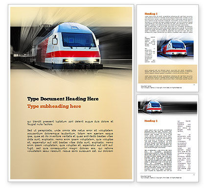 Electric Locomotive Word Template