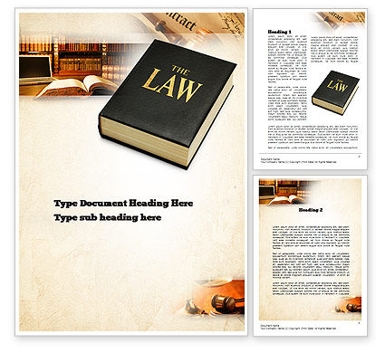 Jurisprudence Word Template, 10880, Legal — PoweredTemplate.com