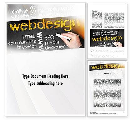 Careers/Industry: Web Design Word Template #10881