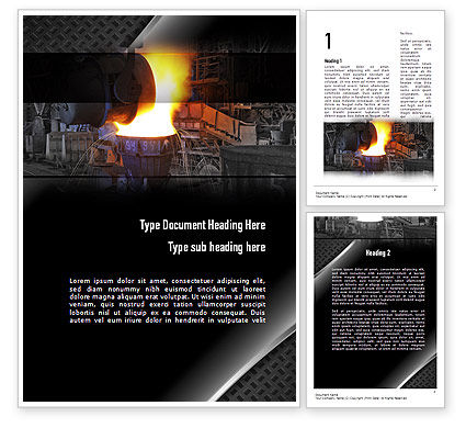 Steel Mill Word Template, 10883, Utilities/Industrial — PoweredTemplate.com