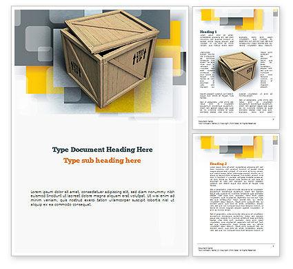Crate Word Template, 10893, Construction — PoweredTemplate.com