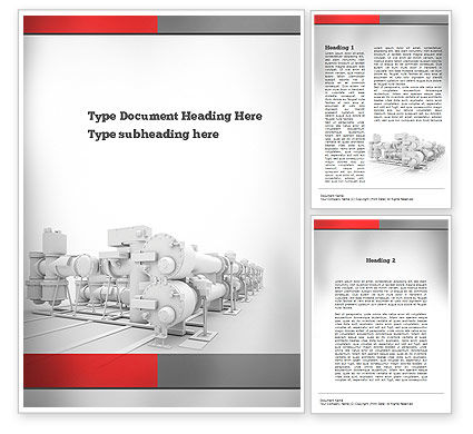 Industrial Machinery Word Template, 10895, Utilities/Industrial — PoweredTemplate.com
