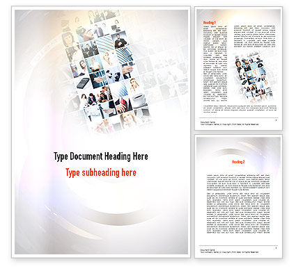 Office Collage Word Template