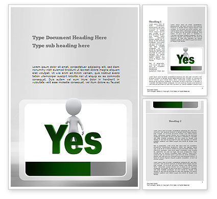 Yes Word Template, 10903, Business Concepts — PoweredTemplate.com