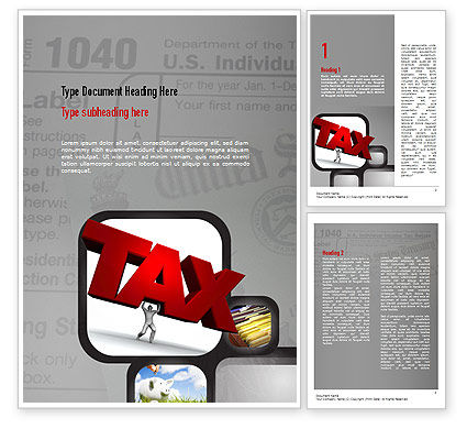 Financial/Accounting: Taxes Word Template #10904