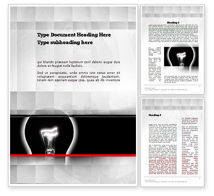 Bulb Silhouette Word Template, 10906, Consulting — PoweredTemplate.com