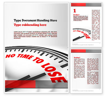Clock Counting Down Word Template, 10910, Business Concepts — PoweredTemplate.com