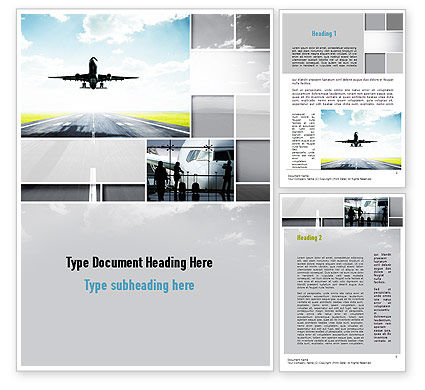 Runway Word Template, 10915, Cars/Transportation — PoweredTemplate.com