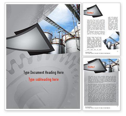 Industrial Tanks Word Template, 10916, Utilities/Industrial — PoweredTemplate.com