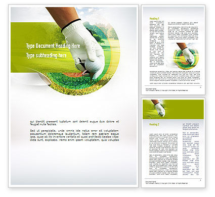 Sports: Golf Theme Word Template #10917