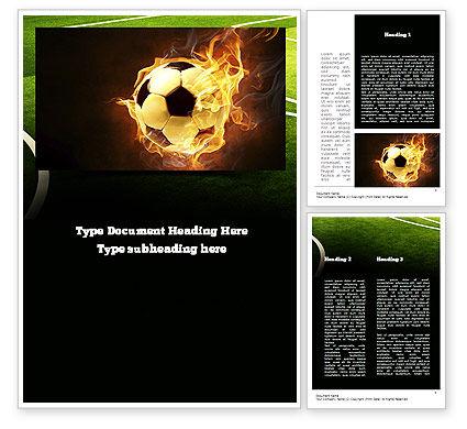 Sports: 炎の中のサッカー - Wordテンプレート #10931