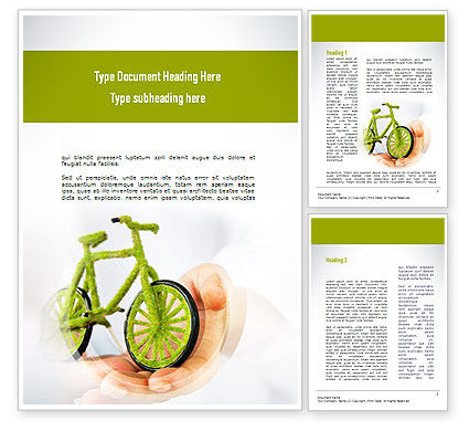 Green Bicycle Word Template