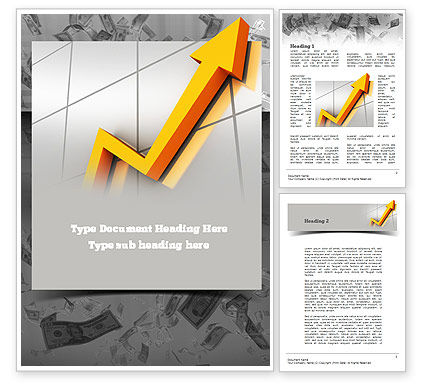 Stock Market Arrow Word Template, 10934, Financial/Accounting — PoweredTemplate.com