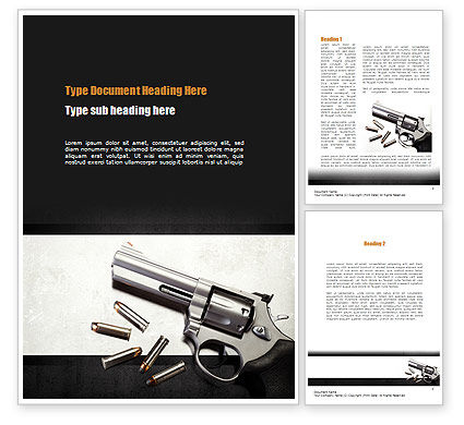 Gun Word Template, 10943, Military — PoweredTemplate.com