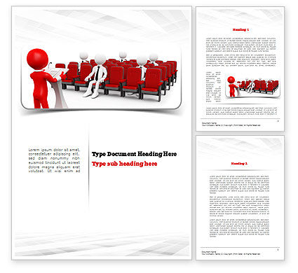 Careers/Industry: Conference Speaking Word Template #10948