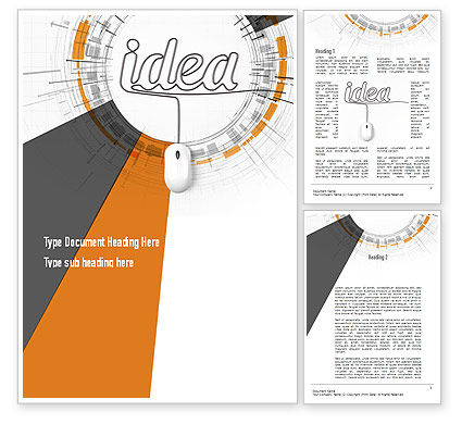 Business Concepts: Idea Development Word Template #10949