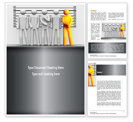 Lineup Procedure Word Template, 10954, Legal — PoweredTemplate.com
