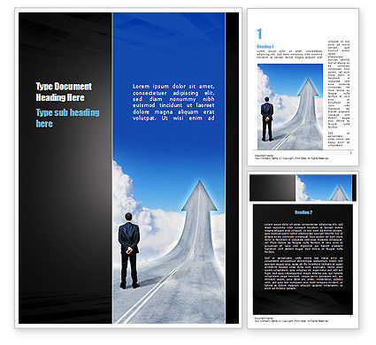 Road to Success Word Template, 10957, Business Concepts — PoweredTemplate.com