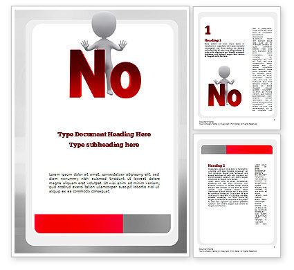 No Word Template, 10971, Business Concepts — PoweredTemplate.com