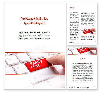 Careers/Industry: Computer Safety First Word Template #10972