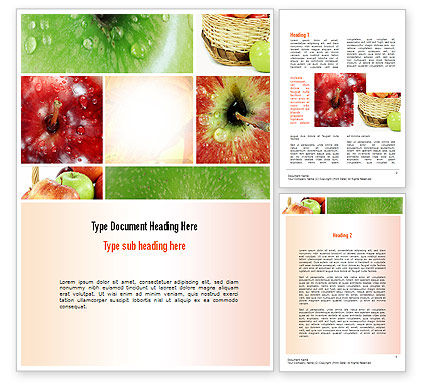 Apple Collage Word Template