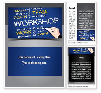 Coaches Workshop Word Template, 10976, Education & Training — PoweredTemplate.com