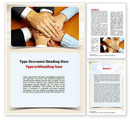Business Concepts: People Hands Together Word Template #10978