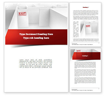Maze Exit Sign Word Template, 10986, Consulting — PoweredTemplate.com