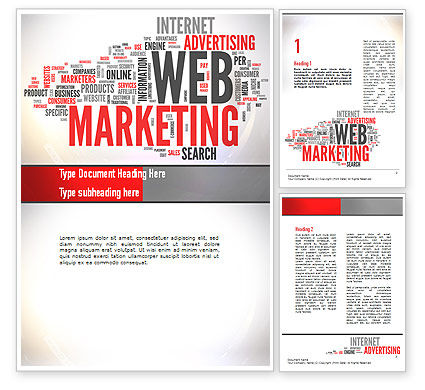 Web Marketing Word Cloud Word Template, 10989, Careers/Industry — PoweredTemplate.com