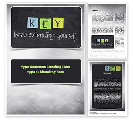 Education & Training: Keep Extending Yourself Word Template #10994