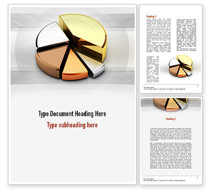 Consulting: Pie Chart from Noble Metals Word Template #10996