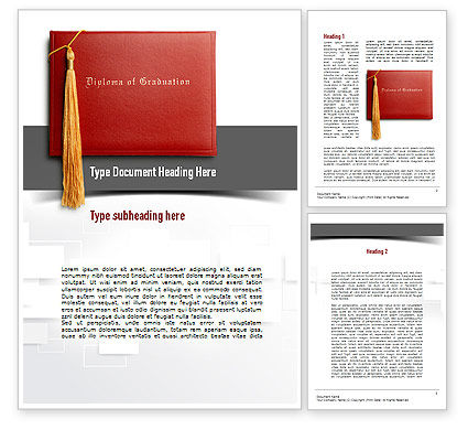 Graduation Diploma Word Template
