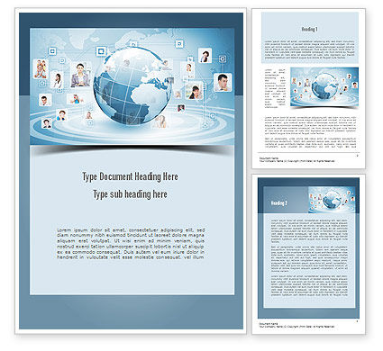 Business Networking Word Template, 11001, Careers/Industry — PoweredTemplate.com