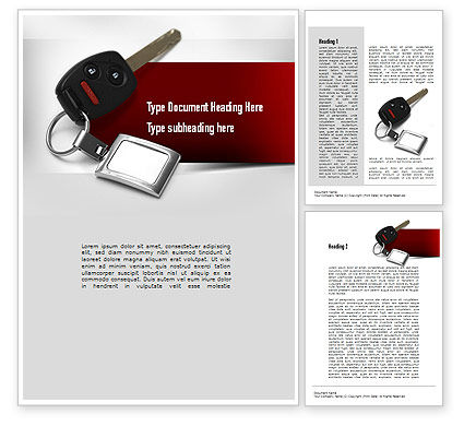 Car Key Word Template, 11004, Technology, Science & Computers — PoweredTemplate.com