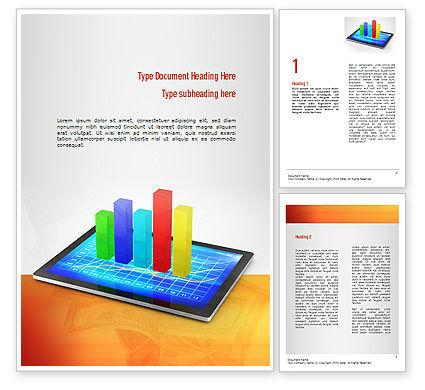 Bar Graph Word Template, 11011, Business Concepts — PoweredTemplate.com