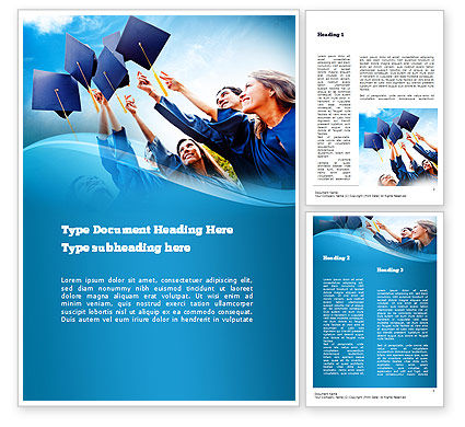 graduation ceremony word template 11019 education training poweredtemplatecom
