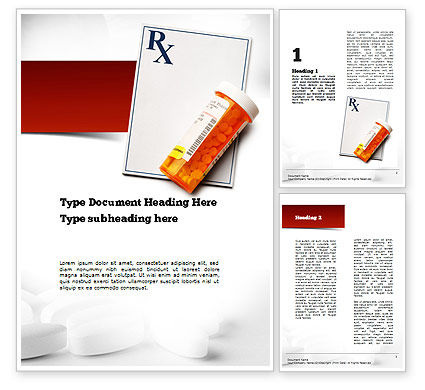 Medical: Prescription Drugs RX Word Template #11020