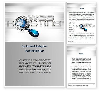 Web Hosting Theme Word Template, 11022, Careers/Industry — PoweredTemplate.com